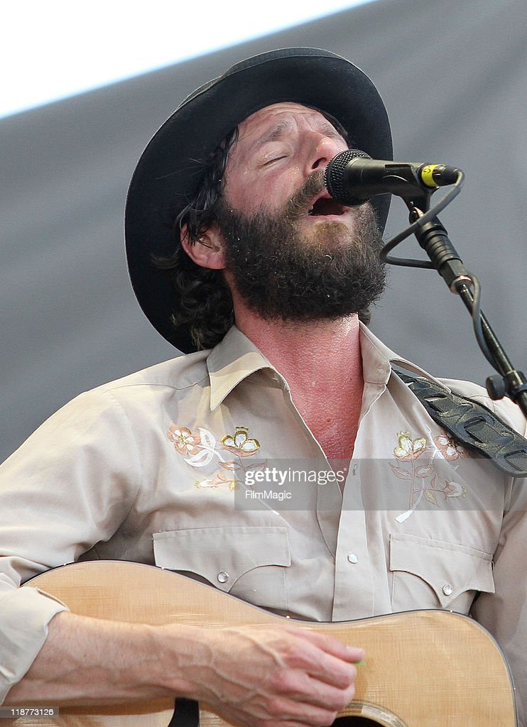 Ray Lamontagne performs during day one of Dave Matthews Band Caravan at Bader Field on June 24, 2011 in Atlantic City, New Jersey.