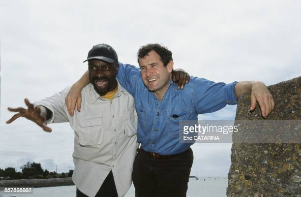 Ray Lema et Johnny Clegg a la Rochelle pendant les Francofolies en juillet 1998 a La Rochelle France
