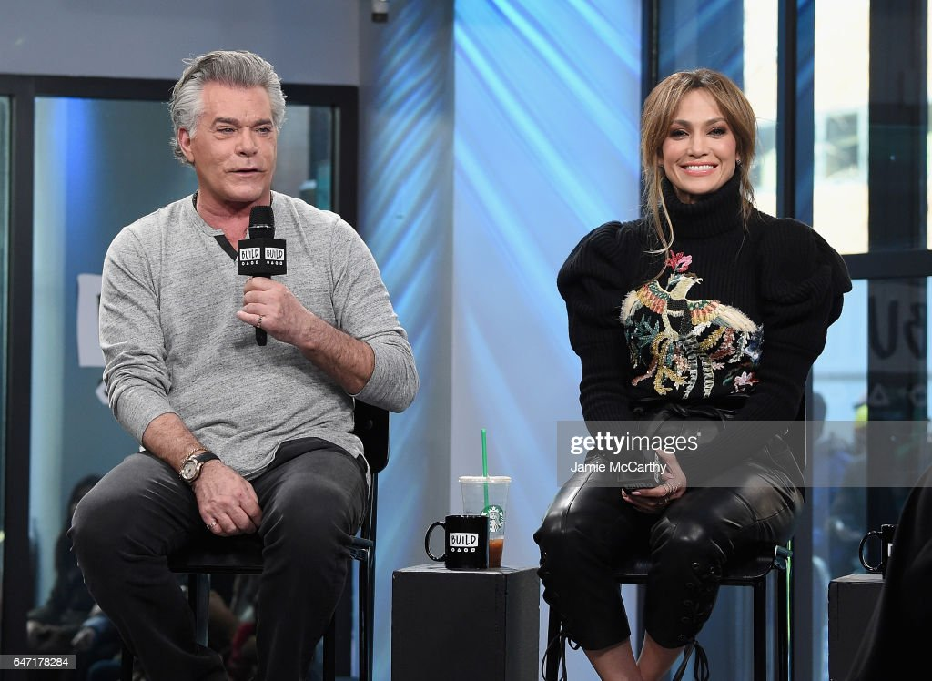 Ray Liotta and Jennifer Lopez visit the Build Series Presents Jennifer Lopez And Ray Liotta Discussing 'Shades Of Blue' at Build Studio on March 2, 2017 in New York City.