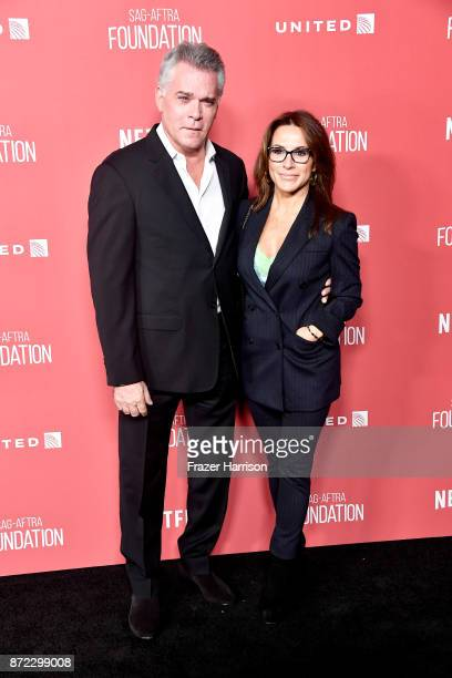 Ray Liotta and Silvia Lombardo attend the SAGAFTRA Foundation Patron of the Artists Awards 2017 at the Wallis Annenberg Center for the Performing...