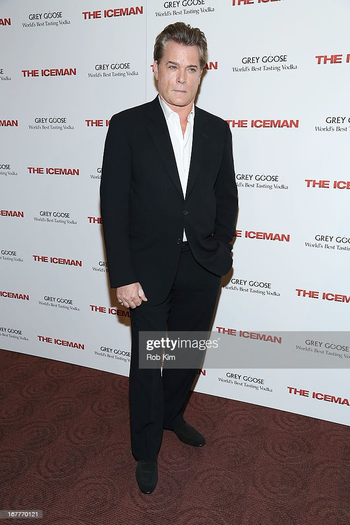 <a gi-track='captionPersonalityLinkClicked' href=/galleries/search?phrase=Ray+Liotta&family=editorial&specificpeople=211136 ng-click='$event.stopPropagation()'>Ray Liotta</a> attends the 'The Iceman' screening presented by Millennium Entertainment and GREY GOOSE at Chelsea Clearview Cinemas on April 29, 2013 in New York City.