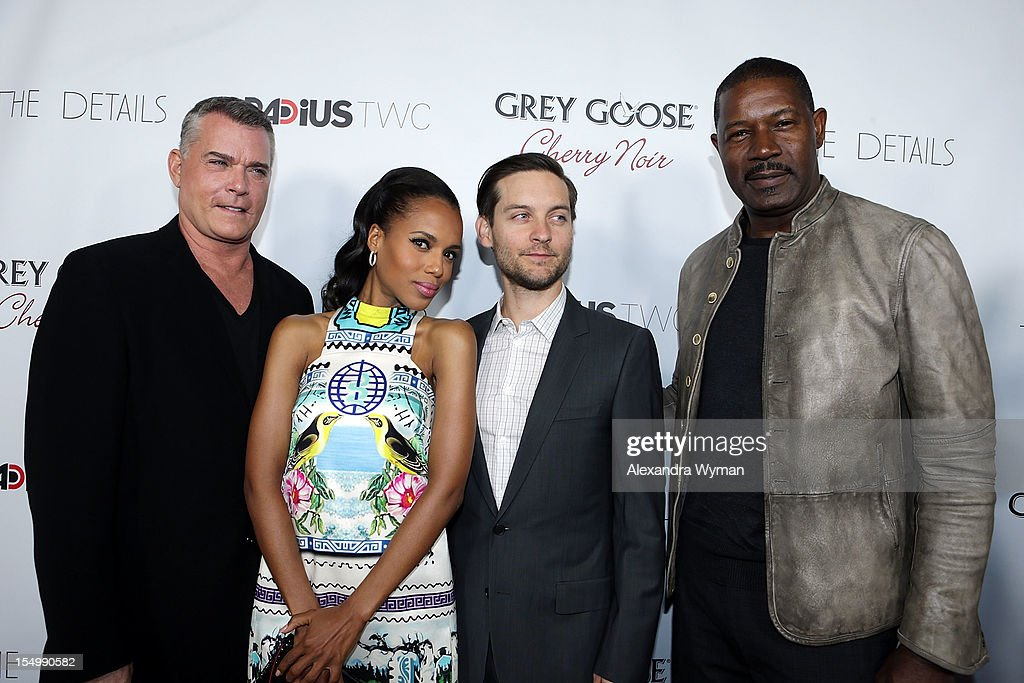 Ray Liotta, Kerry Washington, Tobey Maguire and Dennis Haysbert at RADiUS-TWC 'he Details' Premiere hosted by GREY GOOSE Vodka held at The ArcLight Cinemas on October 29, 2012 in Hollywood, California.