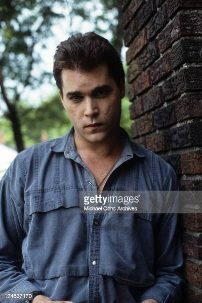 Ray Liotta outside with serious look in a scene from the film 'Dominick And Eugene' 1988