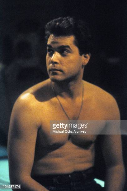 Ray Liotta with shirt off in a scene from the film 'Dominick And Eugene' 1988