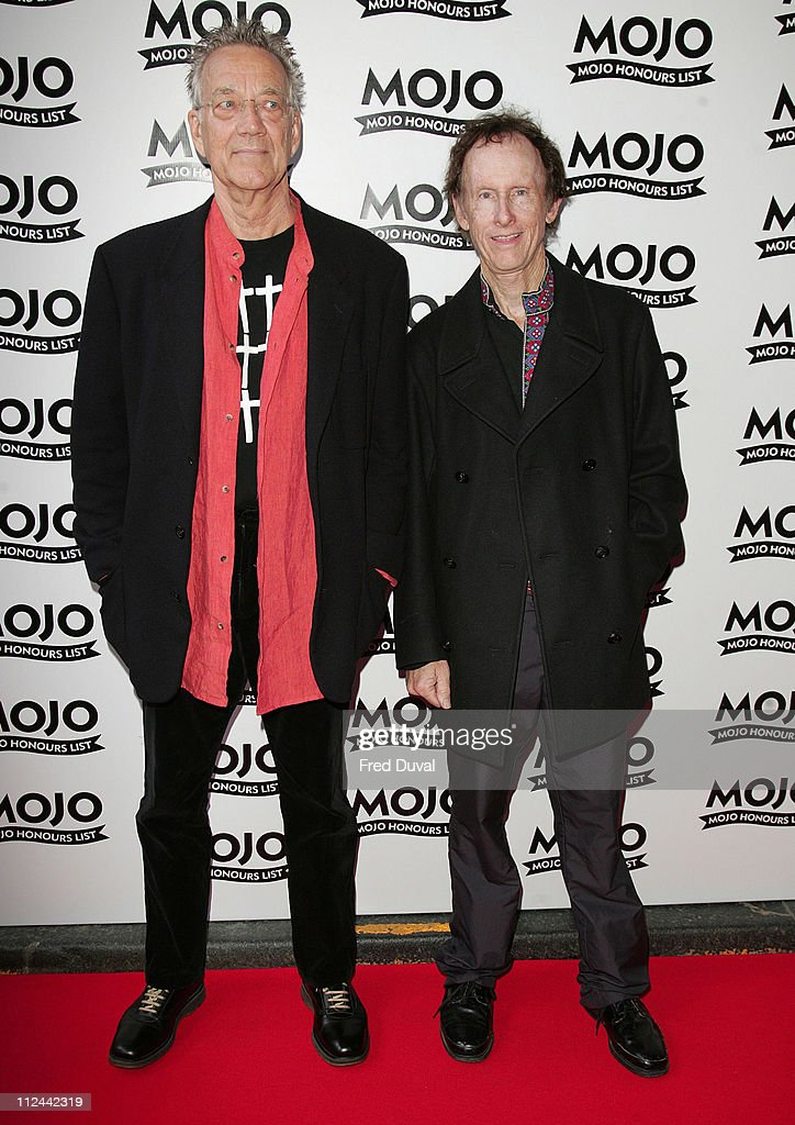 Ray Manzarek and Robby Krieger of The Doors during MOJO Honours List 2007 - Arrivals at The Brewery in London, Great Britain.
