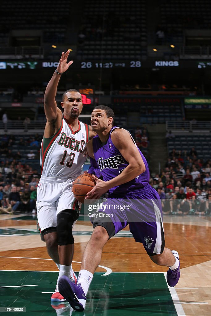 Ray McCallum #3 of the Sacramento Kings handles the ball against the Milwaukee Bucks on March 5, 2014 at the BMO Harris Bradley Center in Milwaukee, Wisconsin.
