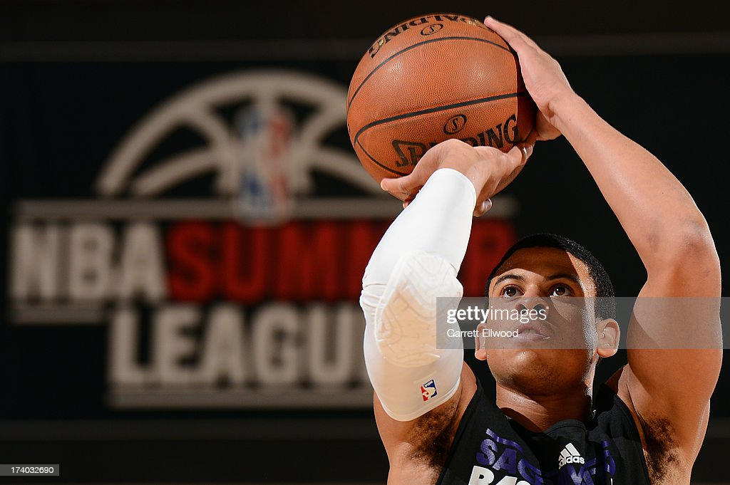 Ray McCallum #3 of the Sacramento Kings shoots the ball versus the Atlanta Hawks during NBA Summer League on July 19, 2013 at the Cox Pavilion in Las Vegas, Nevada.