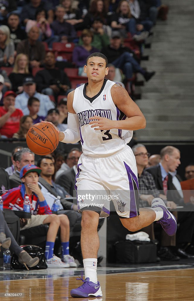 Ray McCollum #3 of the Sacramento Kings in a game against the New Orleans Pelicans on March 3, 2014 at Sleep Train Arena in Sacramento, California.