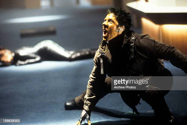Ray Park screams in a scene from the film 'XMen' 2000