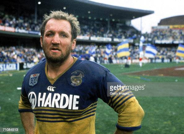 Ray Price of the Eels after winning the 1986 NSWRL Grand Final between the Parramatta Eels and the Canterbury Bulldogs at the Sydney Cricket Ground...