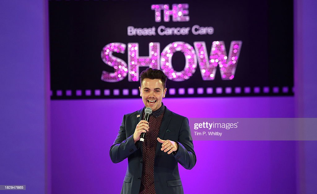 <a gi-track='captionPersonalityLinkClicked' href=/galleries/search?phrase=Ray+Quinn&family=editorial&specificpeople=4044013 ng-click='$event.stopPropagation()'>Ray Quinn</a> performing at the afternoon performance of the Breast Cancer Care Fashion Show at Grosvenor House, on October 2, 2013 in London, England.