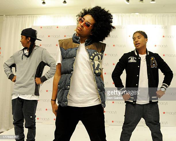 Ray Ray Princeton and Roc Royal of Mindless Behavior perform at Macy's Downtown Brooklyn on August 24 2013 in the Brooklyn borough of New York City