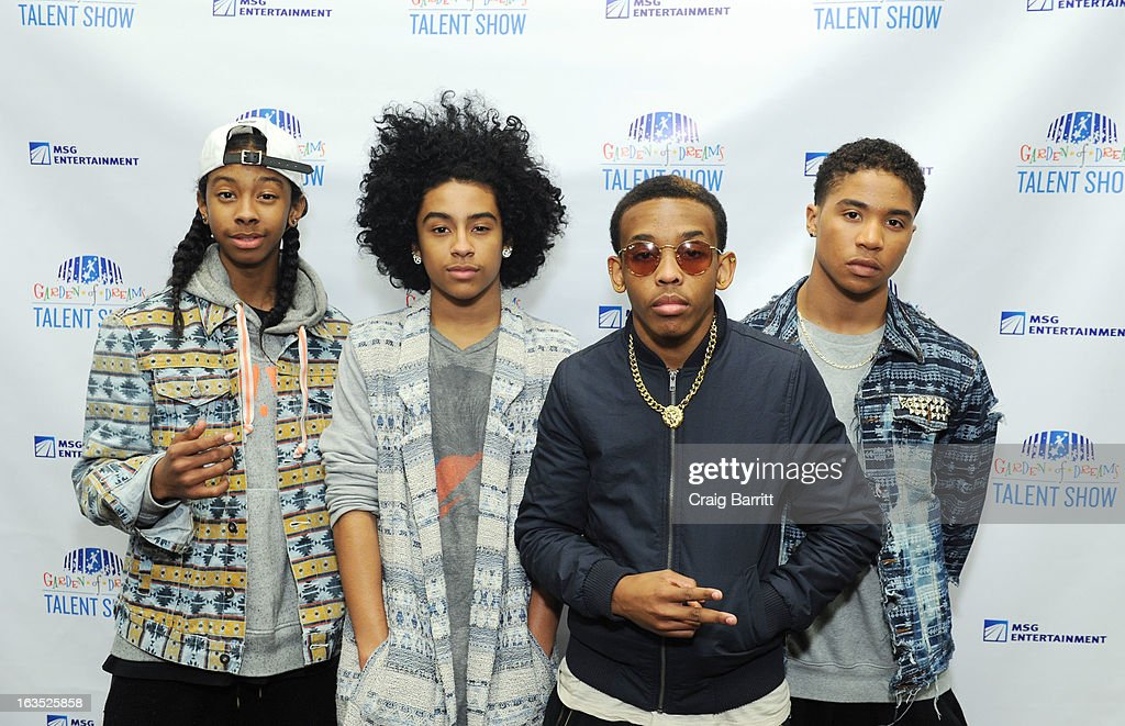 Ray Ray Princeton Prodigy and Roc Royal of the group Mindless Behavior attend the Garden Of Dreams 2013 Spring Talent Show Rehearsal at Radio City...