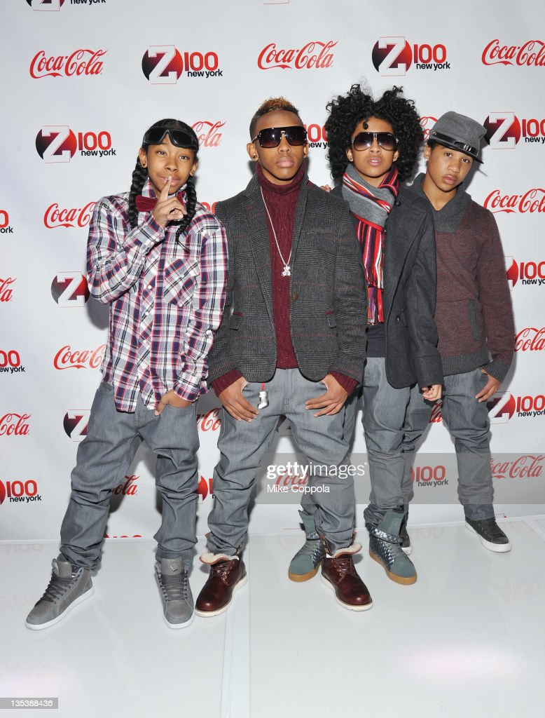 Ray Ray Prodigy Princeton and Roc Royal of Mindless Behavior attend Z100 CocaCola All Access Lounge at Z100's Jingle Ball 2011 preshow at Hammerstein...