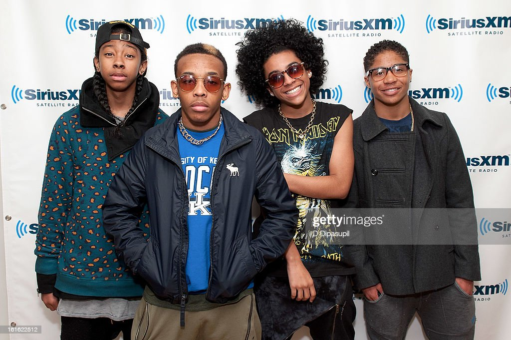 Ray Ray, Prodigy, Princeton, and Roc Royal of Mindless Behavior visit SiriusXM Studios on February 13, 2013 in New York City.