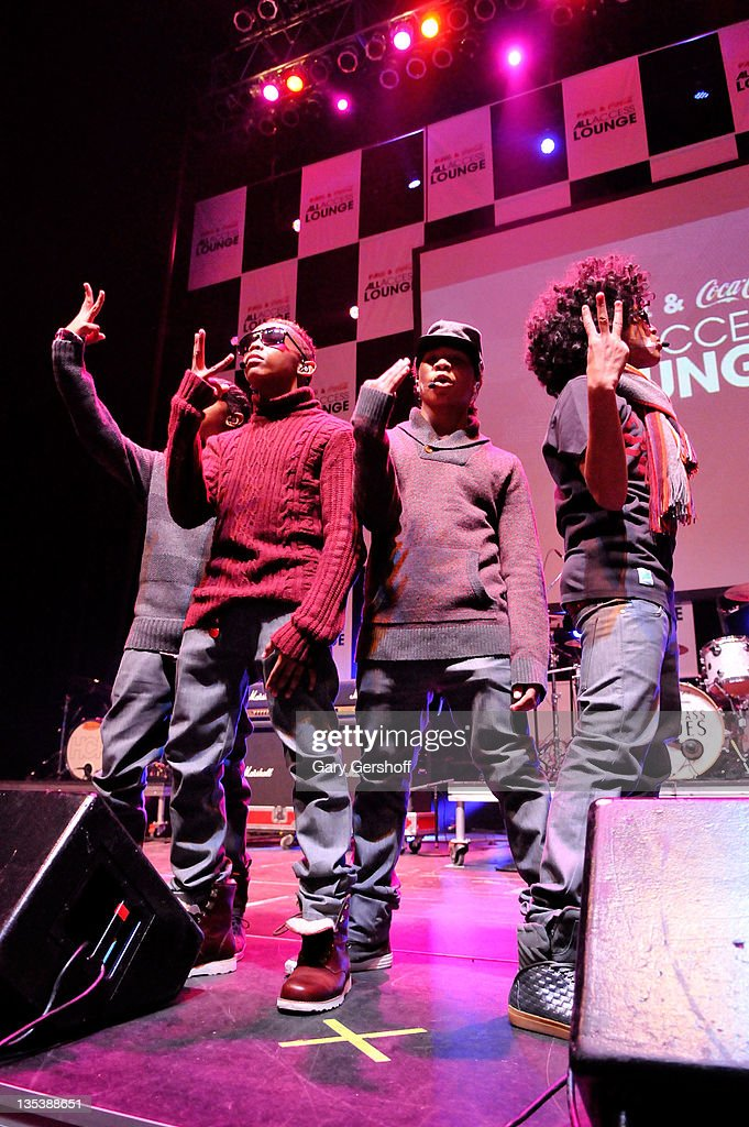 Ray Ray Prodigy Roc Royal and Princeton of Mindless Behavior perform at Z100 Coca_Cola All Access Lounge at Z100's Jingle Ball 2011 preshow at...