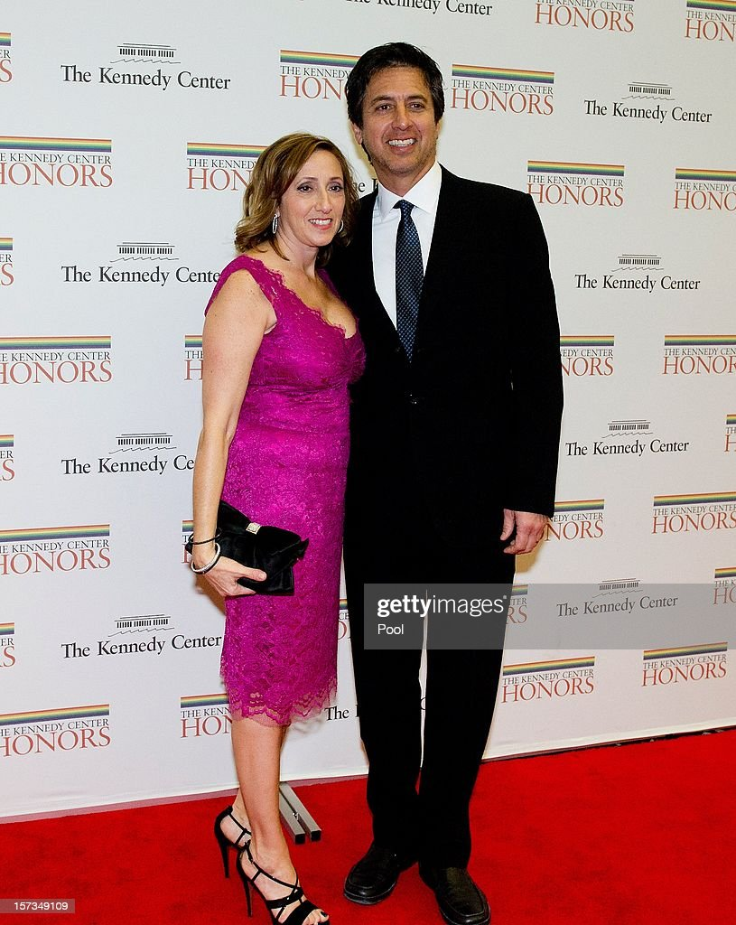 <a gi-track='captionPersonalityLinkClicked' href=/galleries/search?phrase=Ray+Romano&family=editorial&specificpeople=201675 ng-click='$event.stopPropagation()'>Ray Romano</a> and his wife, Anna (R) arrive for a dinner for Kennedy honorees hosted by U.S. Secretary of State Hillary Rodham Clinton at the U.S. Department of State on December 1, 2012 in Washington, DC. The 2012 honorees are Buddy Guy, actor Dustin Hoffman, late-night host David Letterman, dancer Natalia Makarova, and members of the British rock band Led Zeppelin Robert Plant, Jimmy Page, and John Paul Jones.