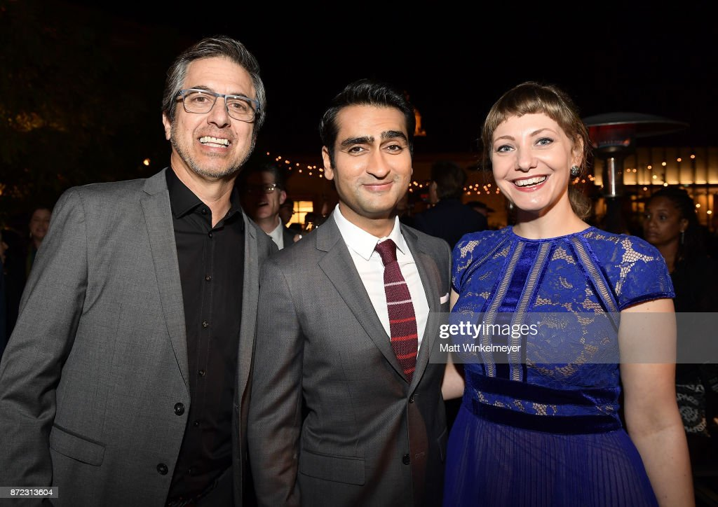 Ray Romano, Kumail Nanjiani and Emily V. Gordon attend the SAG-AFTRA Foundation Patron of the Artists Awards 2017 at the Wallis Annenberg Center for the Performing Arts on November 9, 2017 in Beverly Hills, California.