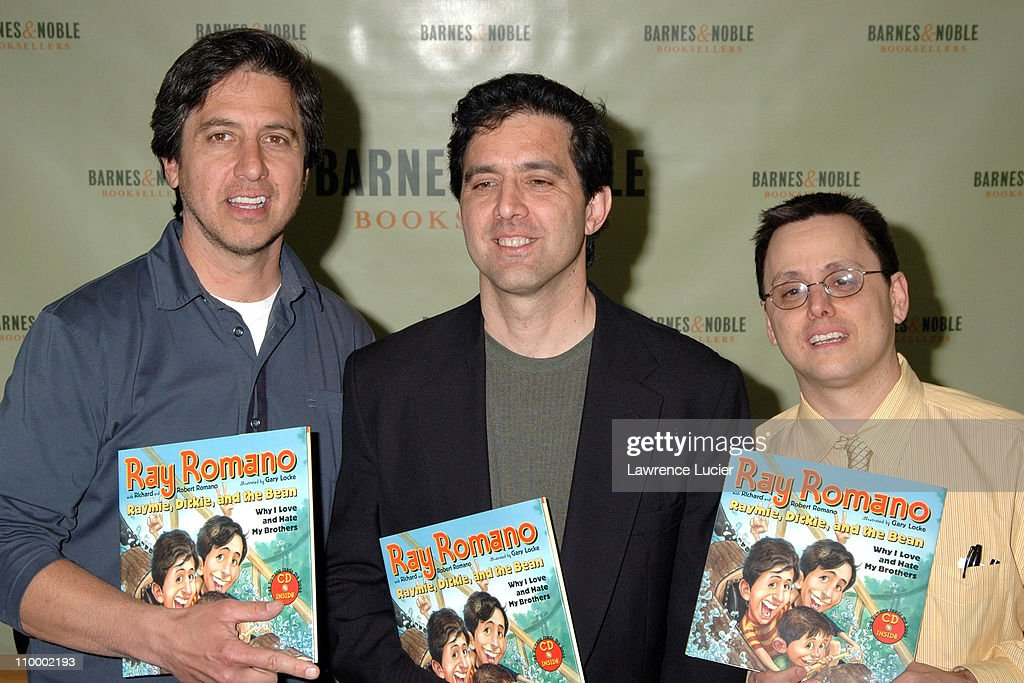 <a gi-track='captionPersonalityLinkClicked' href=/galleries/search?phrase=Ray+Romano&family=editorial&specificpeople=201675 ng-click='$event.stopPropagation()'>Ray Romano</a>, Richard Romano, and Robert Romano during <a gi-track='captionPersonalityLinkClicked' href=/galleries/search?phrase=Ray+Romano&family=editorial&specificpeople=201675 ng-click='$event.stopPropagation()'>Ray Romano</a> Signs His Book Raymie, Dickie, and the Bean: Why I Love and Hate My Brothers at Barnes & Noble in New York City at Barnes & Noble Rockefeller Center in New York City, New York, United States.