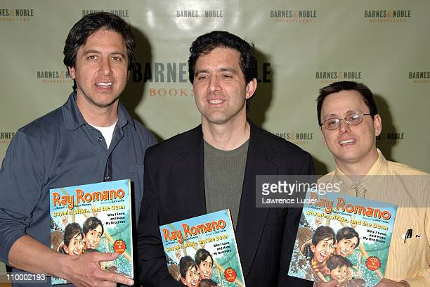 Ray Romano Richard Romano and Robert Romano during Ray Romano Signs His Book Raymie Dickie and the Bean Why I Love and Hate My Brothers at Barnes...