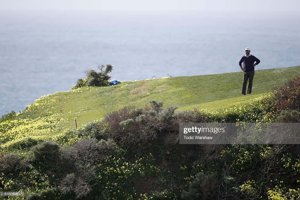 <a gi-track='captionPersonalityLinkClicked' href=/galleries/search?phrase=Ray+Romano&family=editorial&specificpeople=201675 ng-click='$event.stopPropagation()'>Ray Romano</a> stands in the eighth fairway during the final round of the AT&T Pebble Beach National Pro-Am at the Pebble Beach Golf Links on February 14, 2016 in Pebble Beach, California.