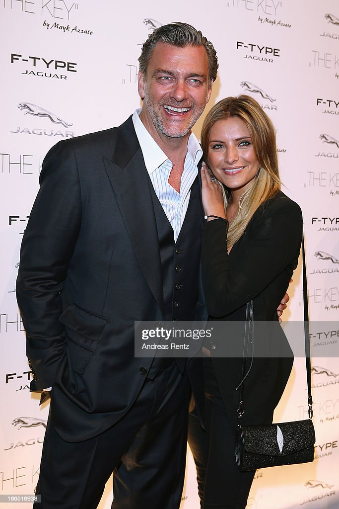 Ray Stevenson and Sophia Thomalla attend the Jaguar FType short film 'The Key' Premiere at eWerk on April 13 2013 in Berlin Germany