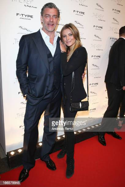 Ray Stevenson and Sophia Thomalla attend the Jaguar FType short film 'The Key' Premiere at eWerk on April 13 2013 in Berlin Germany