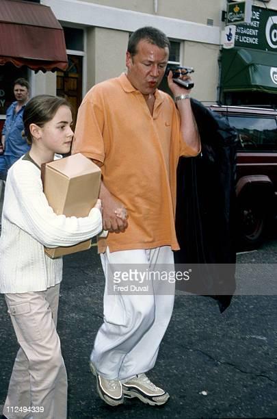 Ray Winstone and daughter Jaime Winstone arriving at TFI Studio at Riverside Studios Hammersmith in London Great Britain