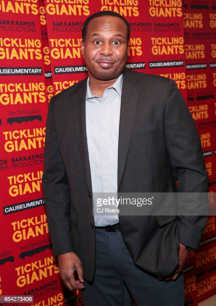 Ray Wood Jr attends 'Tickling Giants' New York premiere at IFC Center on March 16 2017 in New York City