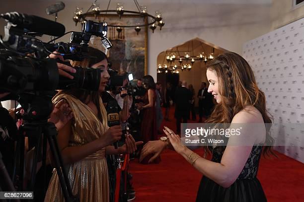 Raya Abirached TV host of Scoop and IWC Brand Ambassador attend the fifth IWC Filmmaker Award gala dinner at the 13th Dubai International Film...