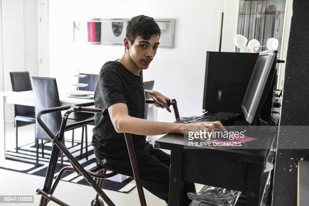 Rayan Nagaz is pictured at his home in Autun eastern France on June 7 2017 17yearold Rayan Nagaz is currently student at the Lycée Bonaparte in Autun...