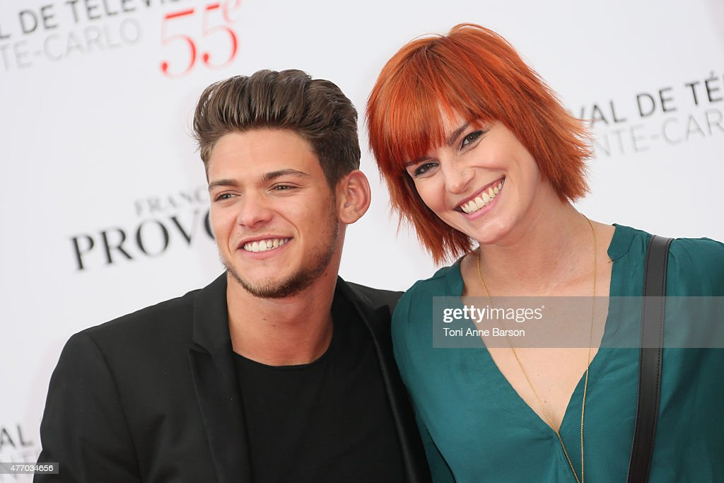 Rayane Bensetti and Fauve Hautot attend the 55th Monte Carlo TV Festival Opening Ceremony at the Grimaldi Forum on June 13, 2015 in Monte-Carlo, Monaco.