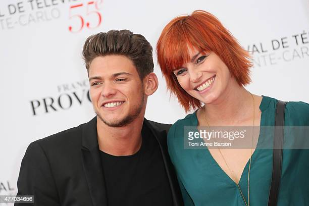 Rayane Bensetti and Fauve Hautot attend the 55th Monte Carlo TV Festival Opening Ceremony at the Grimaldi Forum on June 13 2015 in MonteCarlo Monaco