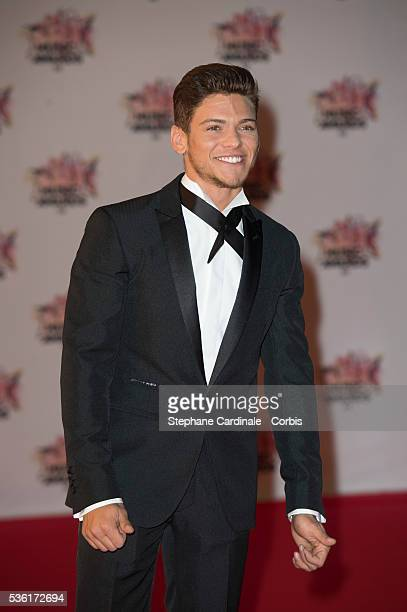 Rayane Bensetti arrives at the 17th NRJ Music Awards at Palais des Festivals on November 7 2015 in Cannes France
