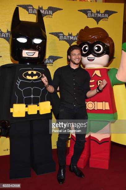 Rayane Bensetti attends 'Lego Batman' Premiere at Le Grand Rex on February 1 2017 in Paris France