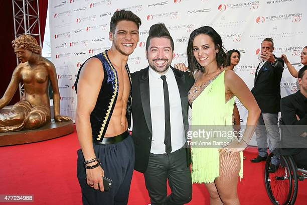 Rayane Bensetti Chris Marques and Alizee perform for 'Dance Avec Les Stars' at the Grimaldi Forum on June 14 2015 in MonteCarlo Monaco
