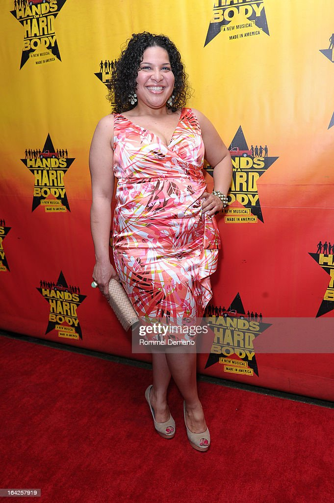 Rayanne Gonzales attends the 'Hands On A Hard Body' Broadway Opening Night After Party at Roseland Ballroom on March 21, 2013 in New York City.