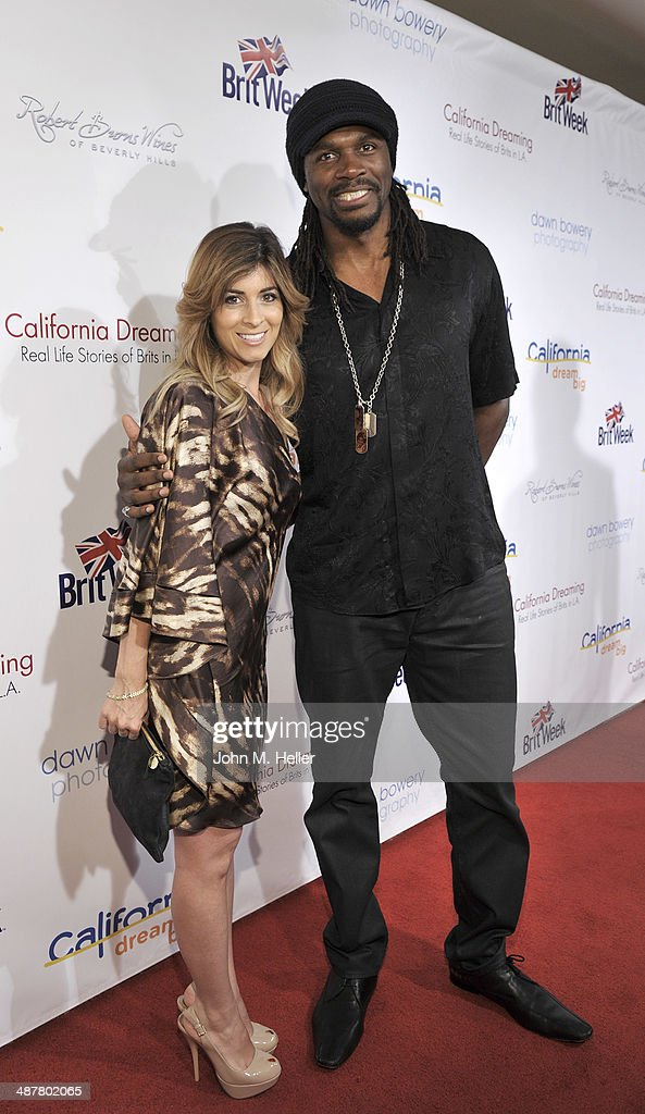Raychel Harrison and British Super Heavy Weight Boxer <a gi-track='captionPersonalityLinkClicked' href=/galleries/search?phrase=Audley+Harrison&family=editorial&specificpeople=213751 ng-click='$event.stopPropagation()'>Audley Harrison</a> attend the Local Woman Lights Up Hollywood a with Dream Book at the L'Ermitage Hotel on May 1, 2014 in Beverly Hills California.
