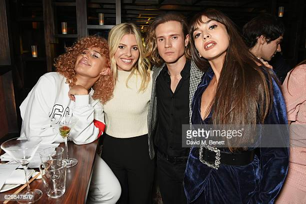 Raye Mollie King Dougie Poynter and Zara Martin attend a VIP dinner to celebrate the launch of the Wonderland winter issue at Bo Lang on December 14...