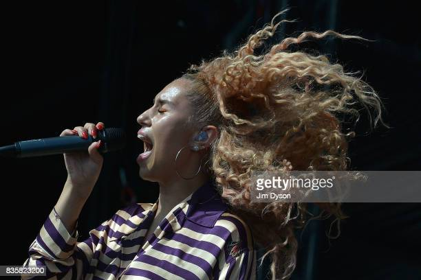 Raye performs live on stage during V Festival 2017 at Hylands Park on August 20 2017 in Chelmsford England