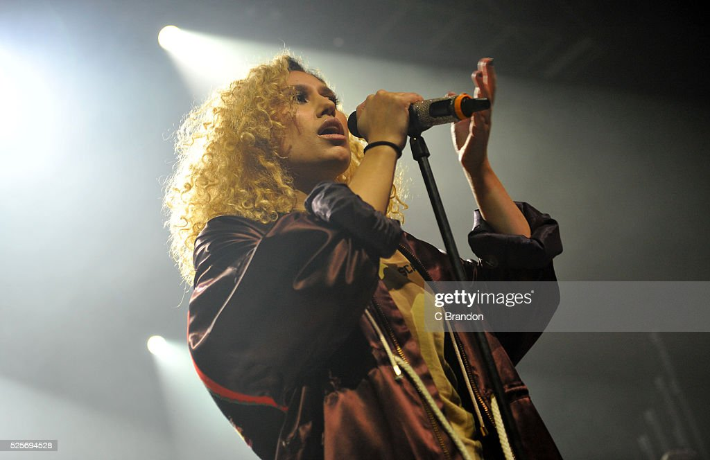 Raye performs on stage at the O2 Forum Kentish Town on April 28, 2016 in London, England.