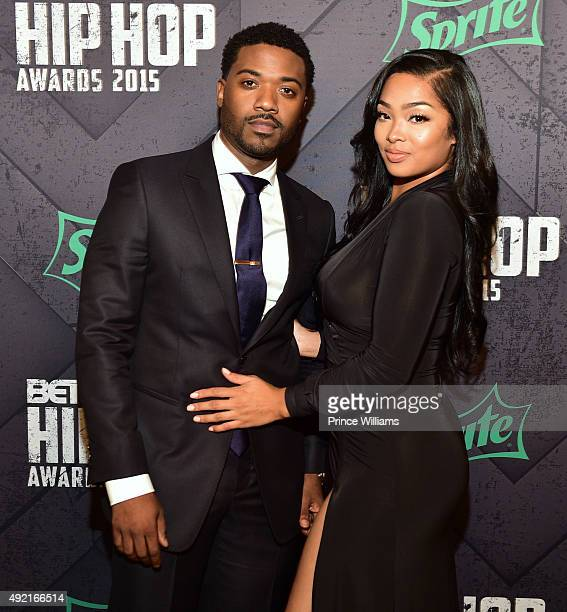 RayJ and Princess Love attend at Boisfeuillet Jones Atlanta Civic Center on October 9 2015 in Atlanta Georgia