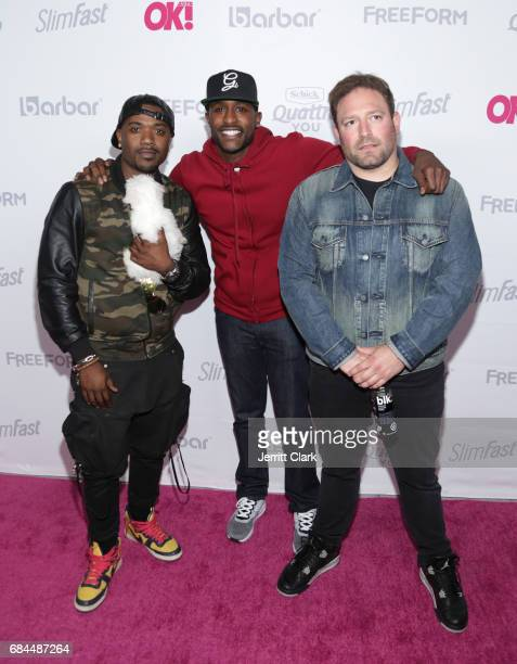 RayJ Jackie Lang and David Weintraub attend OK Magazine's Summer KickOff Party at W Hollywood on May 17 2017 in Hollywood California