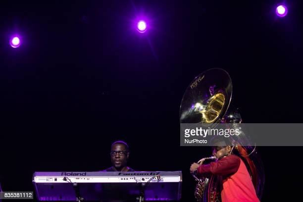 Raymond Angry and Tuba Gooding Jr performed with The Roots at the MGM National Harbor in Oxon Hill MD on Sunday August 13 2017