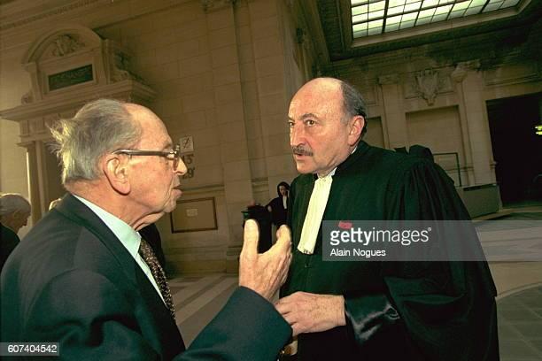 Raymond Aubrac and his lawyer Georges Kiejmann