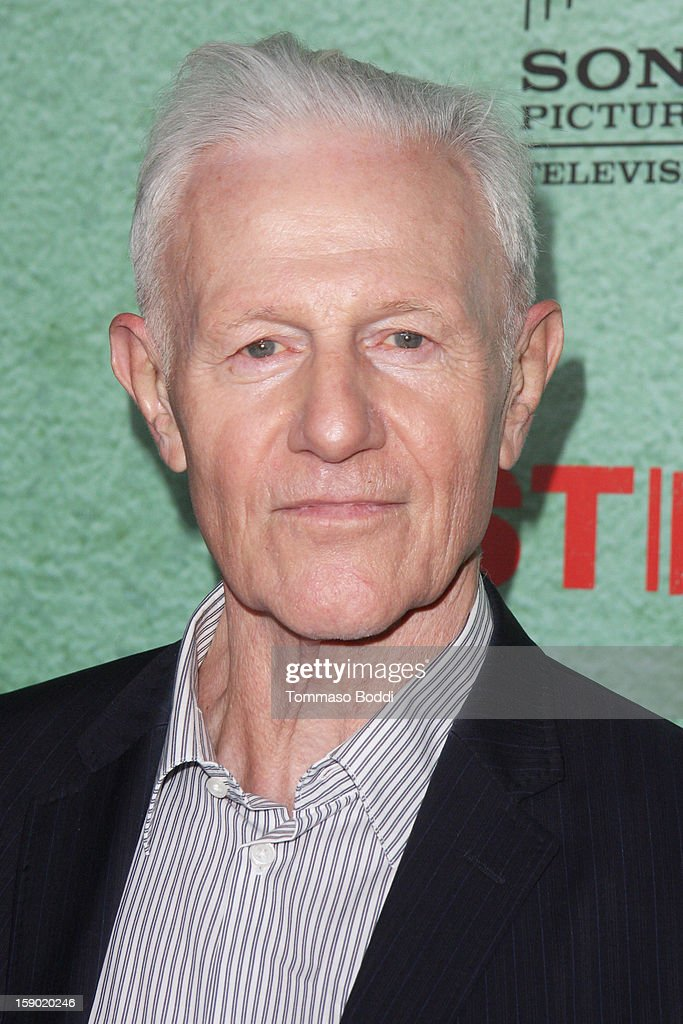 Raymond Barry attends the FX's 'Justified' season 4 premiere held at Paramount Theater on the Paramount Studios lot on January 5, 2013 in Hollywood, California.