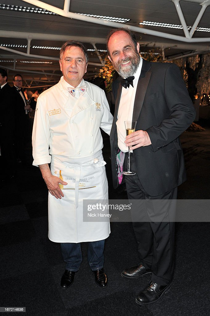 Raymond Blanc and David Heath attend as Relais & Chateaux present 'Diner Des Grands Chefs London 2013' at The Old Billingsgate on April 22, 2013 in London, England.