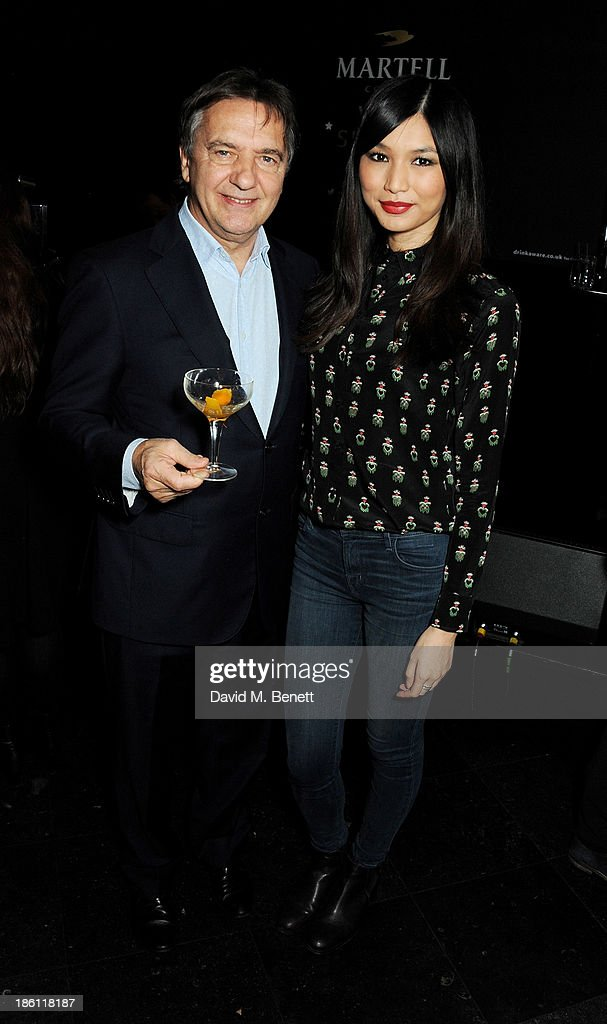 Raymond Blanc (L) and Gemma Chan attend a party hosted by Katherine Jenkins and Raymond Blanc to celebrate the launch of Martell Very Special Nights, a series of very special events bringing you food by culinary visionary Raymond Blanc, music by award-winning mezzo soprano Katherine Jenkins and the ultimate Cognac, Martell, at Le Caprice on October 28, 2013 in London, England.