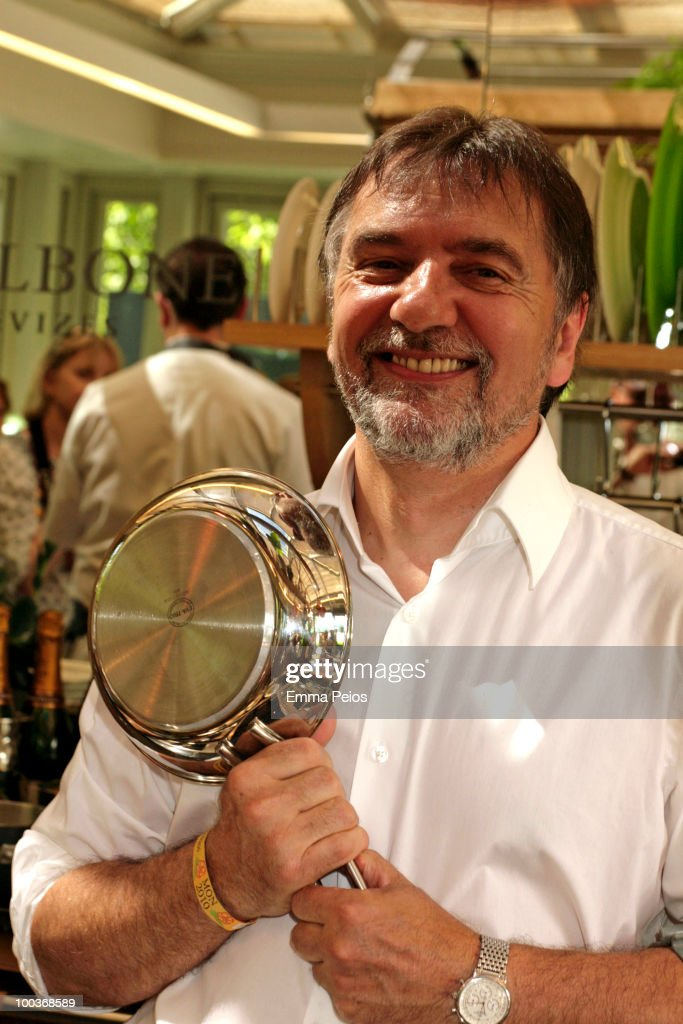 Raymond Blanc attends the Press & VIP preview at The Chelsea Flower Show at Royal Hospital Chelsea on May 24, 2010 in London, England.