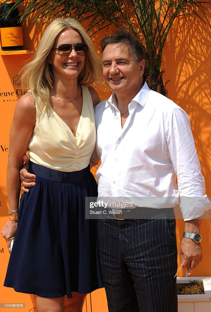 Raymond Blanc (R) attends the Veuve Clicquot Gold Cup final at Cowdray Park Polo Club on July 21, 2013 in Midhurst, England.